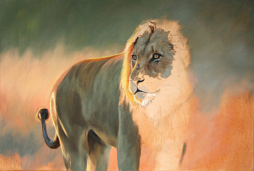 lion-oil-painting