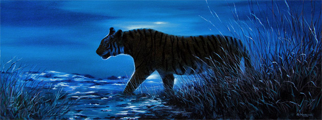 tiger-in-moonlight-painting