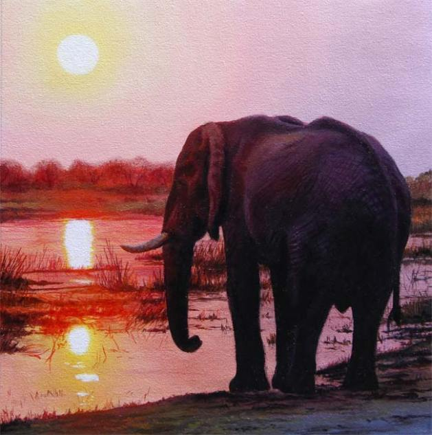 elephant painting ebay