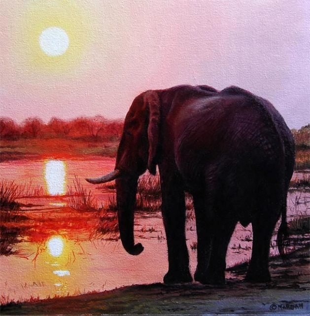 elephant-sunset-painting-ebay
