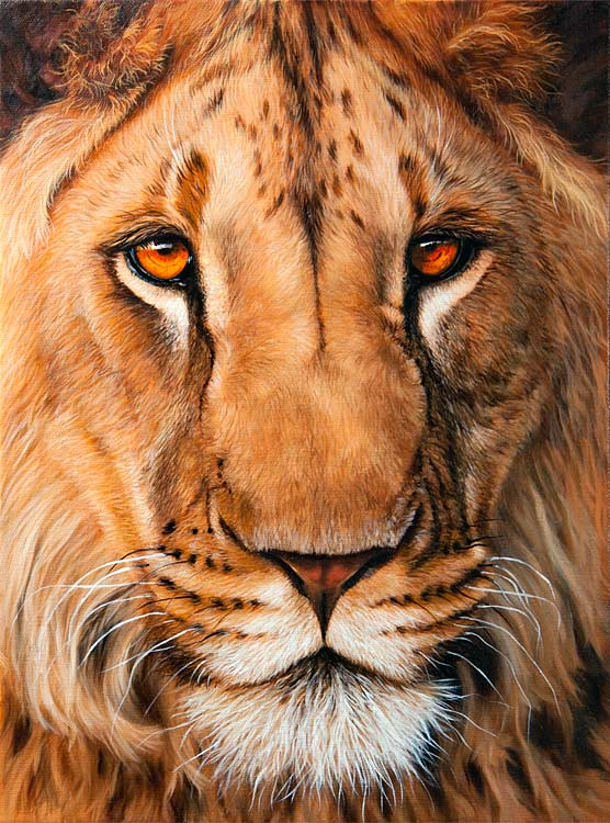 lion painting ebay