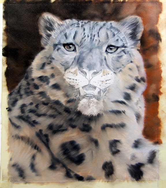 snow leopard art