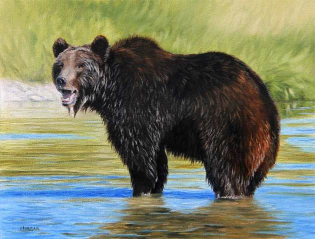 grizzly bear painting ebay