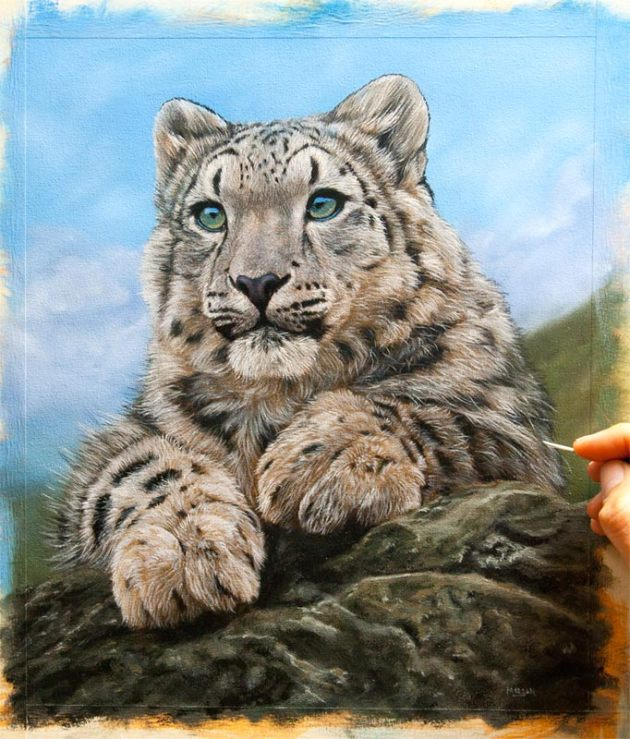 snow-leopard-cub-painting