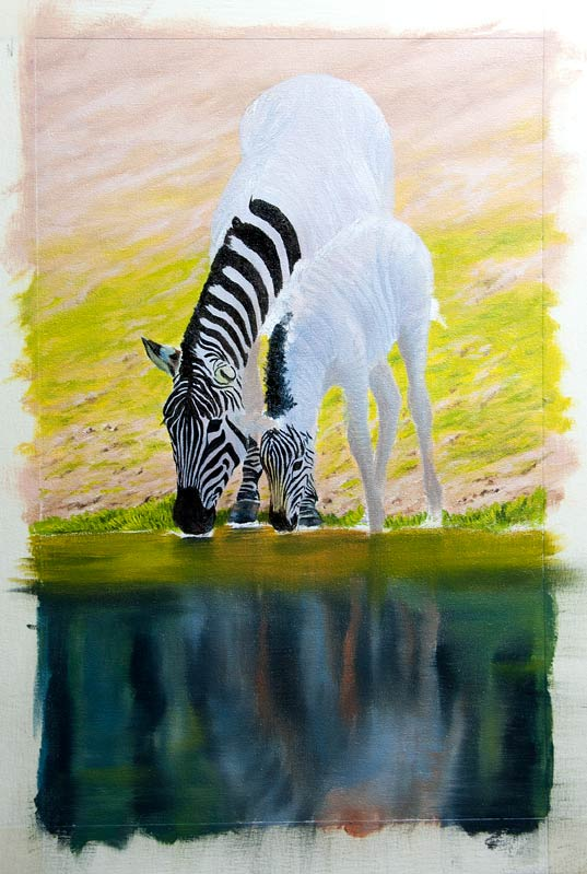 how to paint zebra