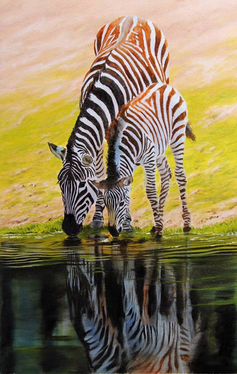 zebra painting for sale